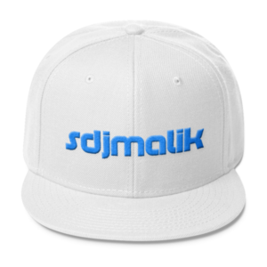 Blue Embroidery sdjmalik Wool Blend Snapback