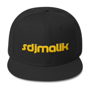 Gold Embroidery sdjmalik Wool Blend Snapback