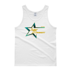 Teal Gold Logo Super Drummers Tank top