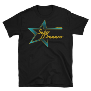 Teal Gold Logo Super Drummer T-Shirt