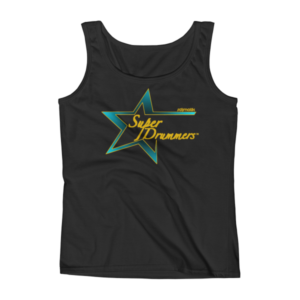 Ladies' Teal Gold Logo Super Drummers Tank